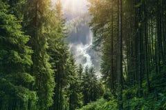 Le cascate di Krimml Fotografia Stock
