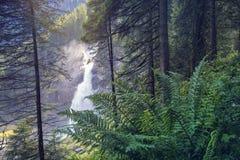 Le cascate di Krimml Fotografie Stock