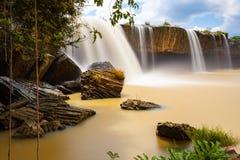 Le cascate di Nur del Dray, Dak Lak, provincia, Vietnam fotografia stock libera da diritti