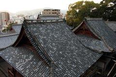 Le case d'impilamento intorno a Sofukuji durante il tramonto Fotografia Stock Libera da Diritti