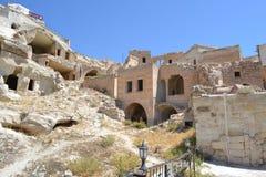 Le case della gente in montagna Immagine Stock