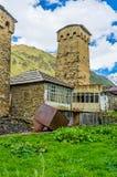 Le case fortificate degli abitanti degli altipiani scozzesi Fotografia Stock