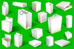 Le caselle ed i pacchetti hanno impostato Fotografia Stock