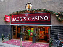 Le casino de Jack à Amsterdam Image stock