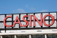 Le casino signent dedans Estoril, Portugal images stock