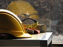 Le casque antichoc du constructeur Images libres de droits