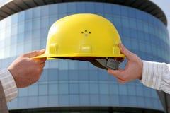 Le casque de l'ingénieur Photo stock