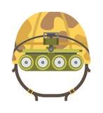 Le casque tactique militaire de l'armée rapide de réaction et la défense de symbole de police dirigent l'illustration Photo stock