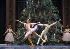 Le casse-noix de ballet du danse-tableau 3-The de prince et de Clara Image libre de droits