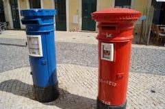 Le cassette delle lettere portoghesi devono comparire fra il più visibile del mondo! Fotografie Stock Libere da Diritti