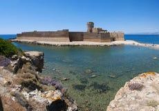 Le Castella,伊索拉迪卡波里祖托,克罗托内,卡拉布里亚,南意大利,意大利,欧洲 免版税库存照片