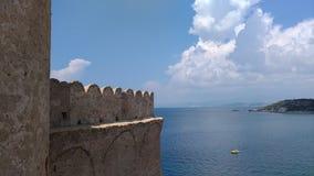 Le Castella - панорамное стоковое фото rf