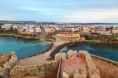 Le castella. Town view from castle Stock Photos