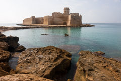 Le Castella, Calabria, Italy. The magnificent fortress of Le Castella is located on the eastern end of the Gulf of Squillace in the province of Crotone Royalty Free Stock Image