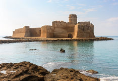 Le Castella, Calabria, Italy. The magnificent fortress of Le Castella located on seashore. The castle was fully restored in 2001 Royalty Free Stock Image