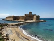 Le Castella. The calabrian castle Royalty Free Stock Images