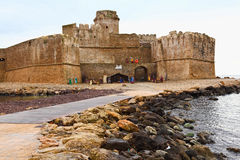 Le castella castle. Castle in calabria south italy, le castella Royalty Free Stock Photo