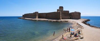 Le Castella, Isola di Каподастр Rizzuto, Crotone, Калабрия, южная Италия, Италия, Европа Стоковые Изображения