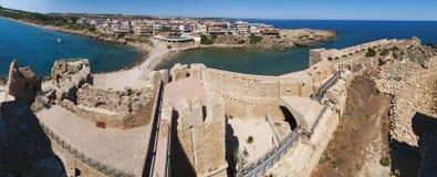 Le Castella, Isola di Capo Rizzuto, Crotone, Calabria, sydliga Italien, Italien, Europa Royaltyfria Foton