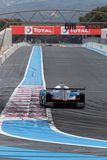Straight in Circuit Paul Ricard. LE CASTELLET, FRANCE, April 7, 2018 : Racing cars and teams during the training sessions for World Endurance Car Championship Royalty Free Stock Images