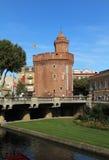 Le Castillet Perpignan, Francja, obrazy royalty free