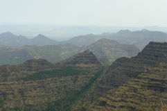 Le catene montuose sterili della maharashtra Fotografia Stock