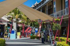 Le Caudan Strand port Louis Mauritius Royaltyfri Bild