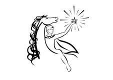 Le cavalier avec l'étoile Photos stock