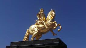 Le cavalier d'or Image libre de droits
