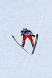 Le cavalier de ski Mitja MEZNAR vole Photographie stock libre de droits