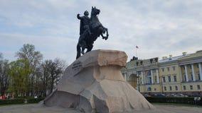Le cavalier en bronze photo libre de droits