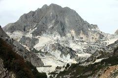 Le cave del marmo - alpi di Apuan, Carrara, Immagini Stock Libere da Diritti