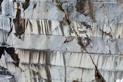 Le cave del marmo - alpi di Apuan, Carrara, Immagini Stock