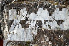 Le cave del marmo - alpi di Apuan, Carrara, Fotografie Stock Libere da Diritti