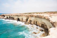 Le caverne del mare Fotografie Stock Libere da Diritti