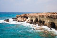 Le caverne del mare Fotografia Stock