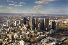 Le CBD de Melbourne Photos libres de droits