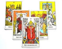 Le ccult de Guru de tradition d'éducation d'établissements de carte de tarot de Hierophant illustration de vecteur