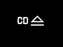 Le CD éjectent le bouton Photographie stock libre de droits