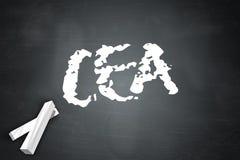 Le CEA de tableau noir Photo libre de droits