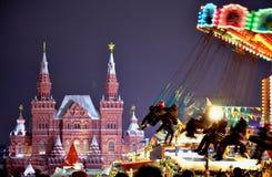 Le celebrazioni del nuovo anno sul quadrato rosso fotografia stock libera da diritti