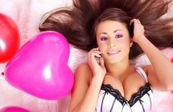 Le celebrità di giorno dei biglietti di S. Valentino Fotografia Stock
