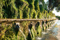 Le cento fontane at Villa d'este in Tivoli - Roma Royalty Free Stock Photography