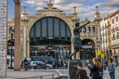 Le central de Mercado est le marché le plus célèbre à Saragosse, Espagne Image libre de droits