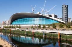 Le centre d'Aquatics de Londres images libres de droits