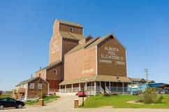 Le centre de accueil chez Dawson Creek, Canada photographie stock libre de droits