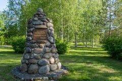 Le centre de la Finlande, statue Image libre de droits