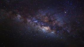 Le centre de la galaxie de manière laiteuse, longue photographie d'exposition images libres de droits