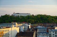 Le centre de la ville Brno le 30 avril 2016 Brno est la deuxième plus grand ville dans la République Tchèque Photos libres de droits