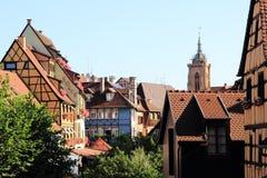 Le centre de la ville de Colmar Image libre de droits